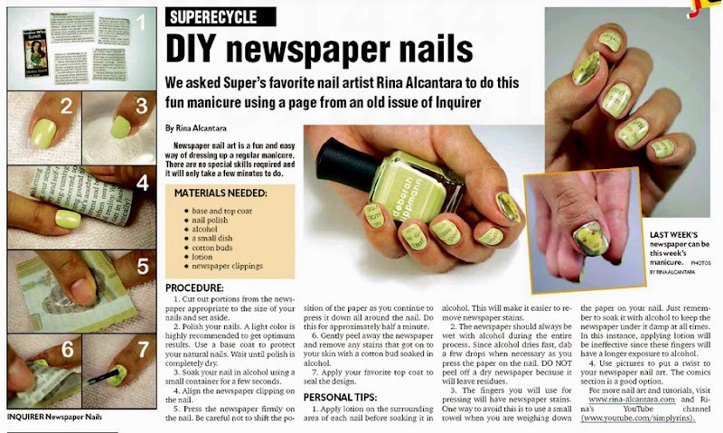 Newspaper Nail Art Simply Rins