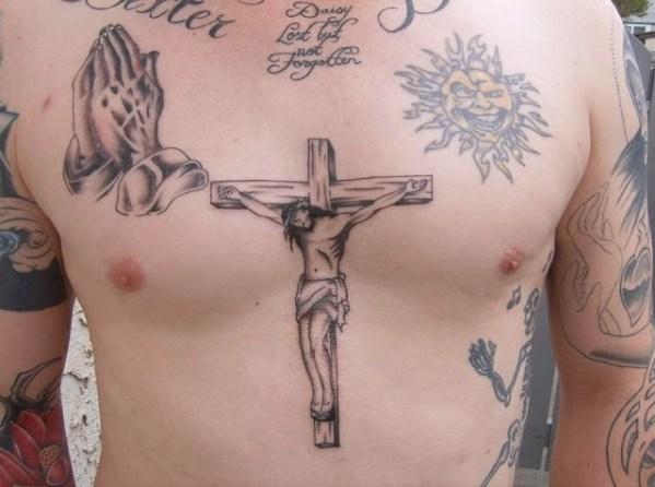 jesus Chest Tattoos