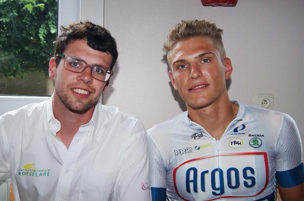 Thomas Verhaeghe en Marcel Kittel