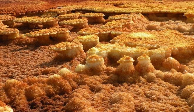 Funny formations found in Dallol, Danakil