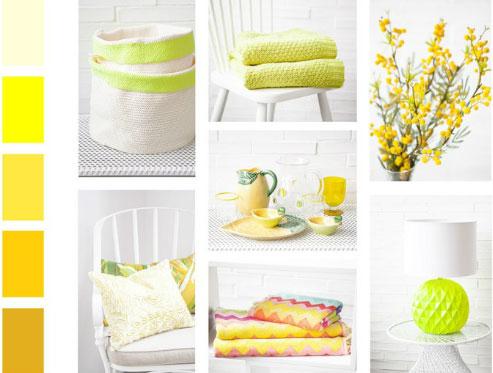 Colores para la decoración de verano.