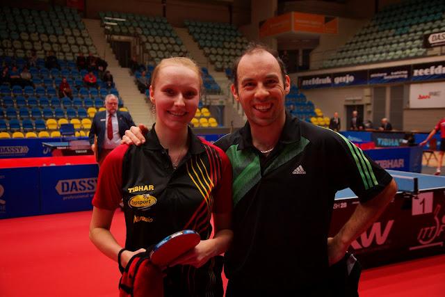 Eline Loyen en Tim Janssens winnen de finale gemengd dubbel