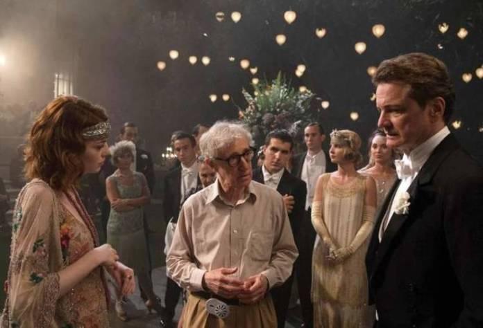 Woody Allen en Magia a la luz de la luna, junto a Colin Firth y Emma Stone