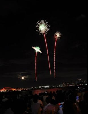 lễ hội bắn pháo hoa ở Kobe Nhật Bản