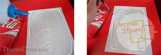 Coca-Cola en la decoración.