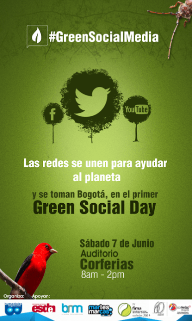 #GreenSocialMedia DAY Afiche