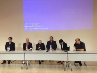 El maestro Abreu y representantes de FundaMusical Bolívar y de El Sistema Japón, conversaron con la prensa venezolana y local en las instalaciones del Metropolitan Arts Space de Tokio