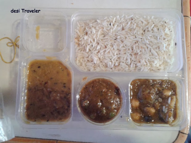 Lunch packet Indian Train Tiffin Travel Khana