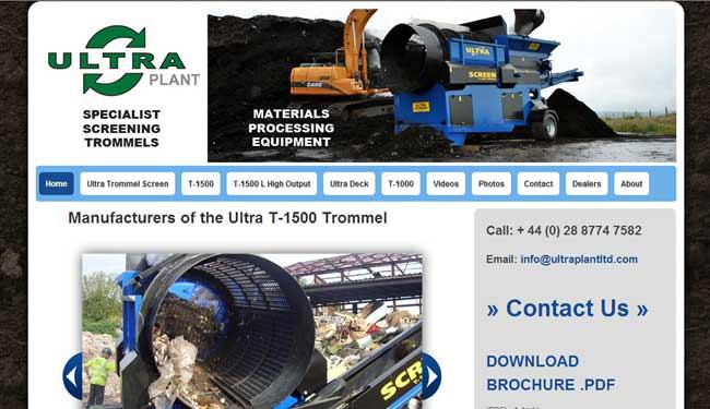 Ultra Plant web design screen shot