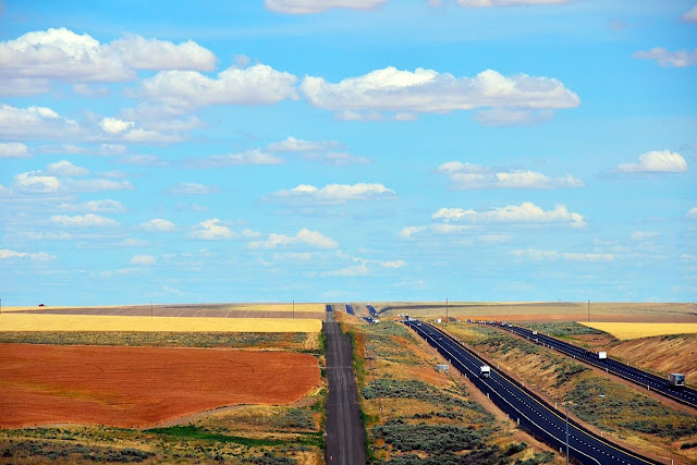 I-90 view from Schrag (MP 198) Westbound Rest Area, by Koch Rd, Ritzville, WA 99169