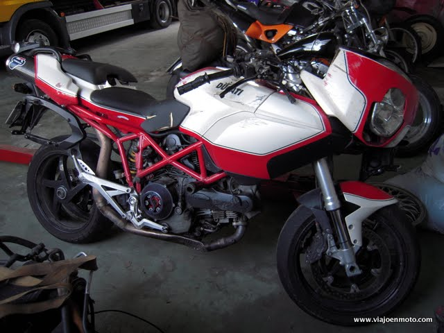 Ducati Multistrada crash