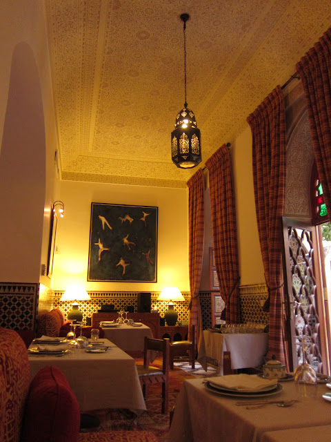 Pepenero dining room, Marrakech, Morocco