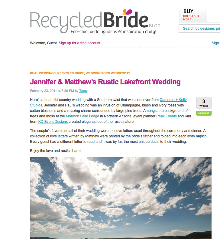 Featured on recycled bride peak events northern arizona event featured on recycled bride junglespirit Choice Image