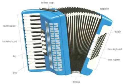 Accordéon d'instruments de musique traditionnels