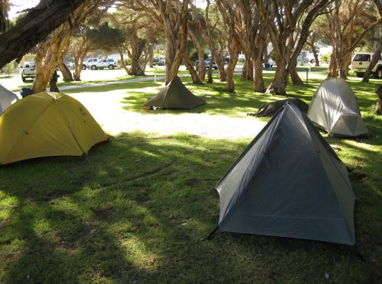 Camping at Turner Caravan Park, Augusta prior to walking the Cape to Cape Track northbound
