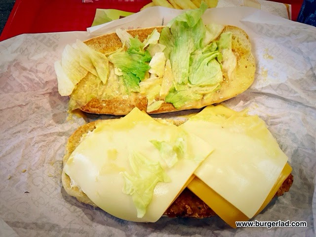 Burger King Quattro Cheese Chicken Royale