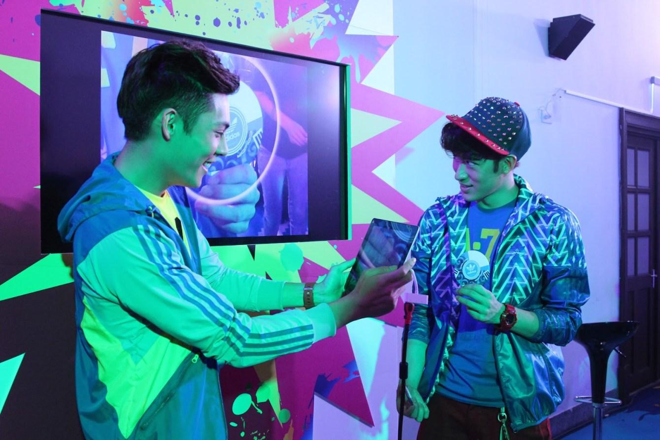 *adidas Unite all Originals:林辰唏、胡宇威與你一起互動 AR CODE(擴增實境)技術! 3