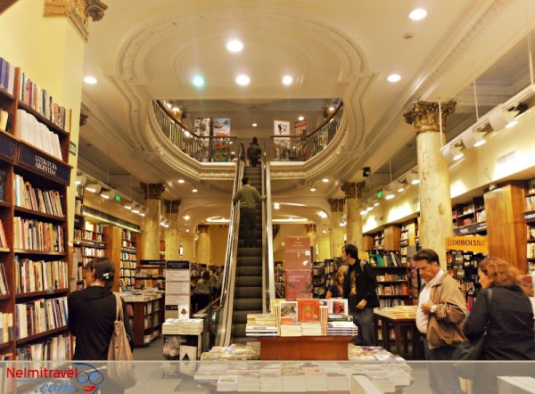 One of the famous bookshops in Buenos Aires.