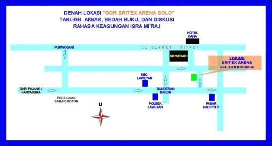 Denah Lokasi GOR Sritex Arena Solo (ex GOR Bhineka)