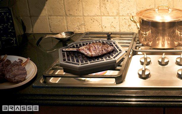 *瓦斯爐上也可以享受BBQ美味:Brassé BBQ室內無煙燒烤爐架! 5