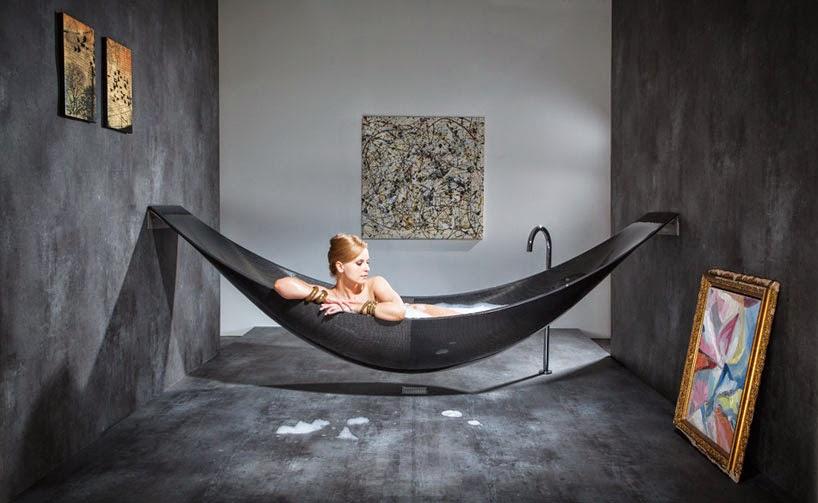 *沐浴新體驗懸空吊床浴缸:VESSEL碳纖維輕量享受! 1