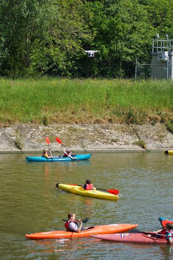 drone boven het water - Watersportdagen Roeselare 2014