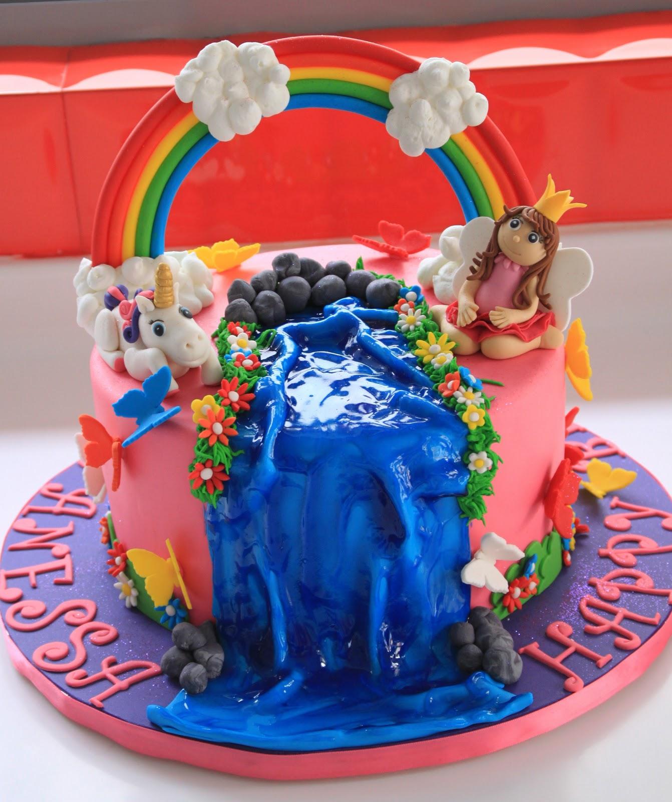 Black Frosting And Cake Cakes Rainbow Unicorn