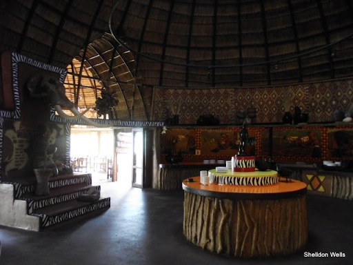 restaurant at shakaland, kwazulu natal, south africa