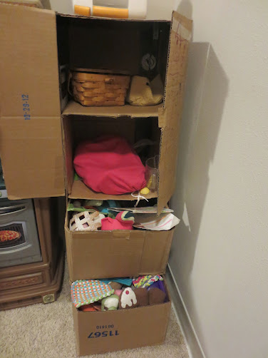 Cardboard Kid Kitchen Cabinet and Drawers