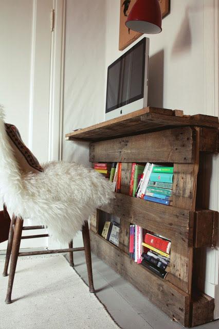 Reciclar palé como mueble de tele.