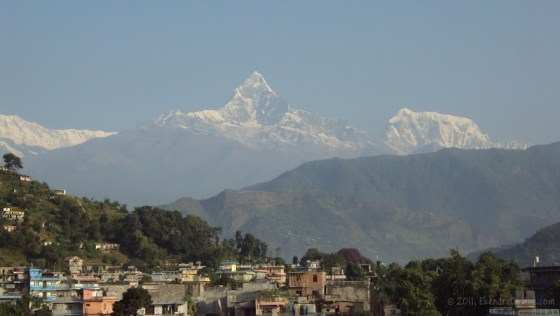 Machhapuchhre as it is seen from almost all homes in Pokhara!