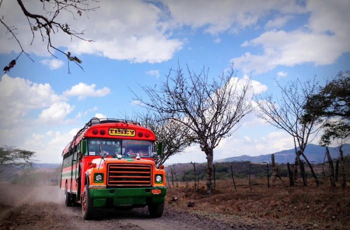 A chicken bus in Nicaragua