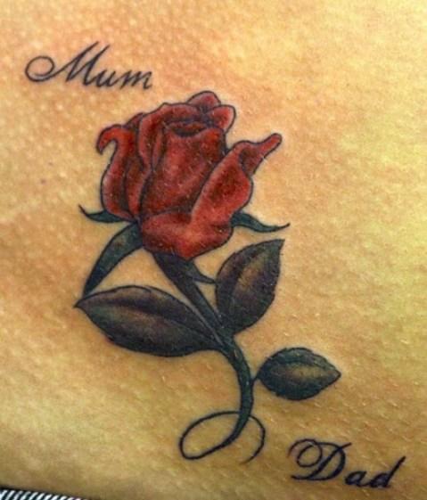 rose tattoo design for parents
