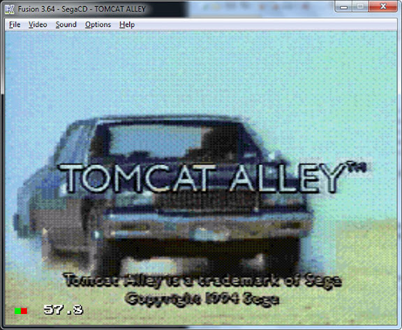 Game Tom Cat Alley do Sega CD rodando no emulador Fusion