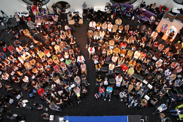 Mozfest from above, image by Pierros Papadeas
