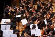 En la segunda parte del concierto del domingo 27, Joshua Dos Santos dirigió a la Sinfónica Simón Bolívar en la ejecución del concierto para orquesta del húngaro Béla Bartók