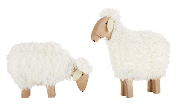 Decoracion nordica con ovejas