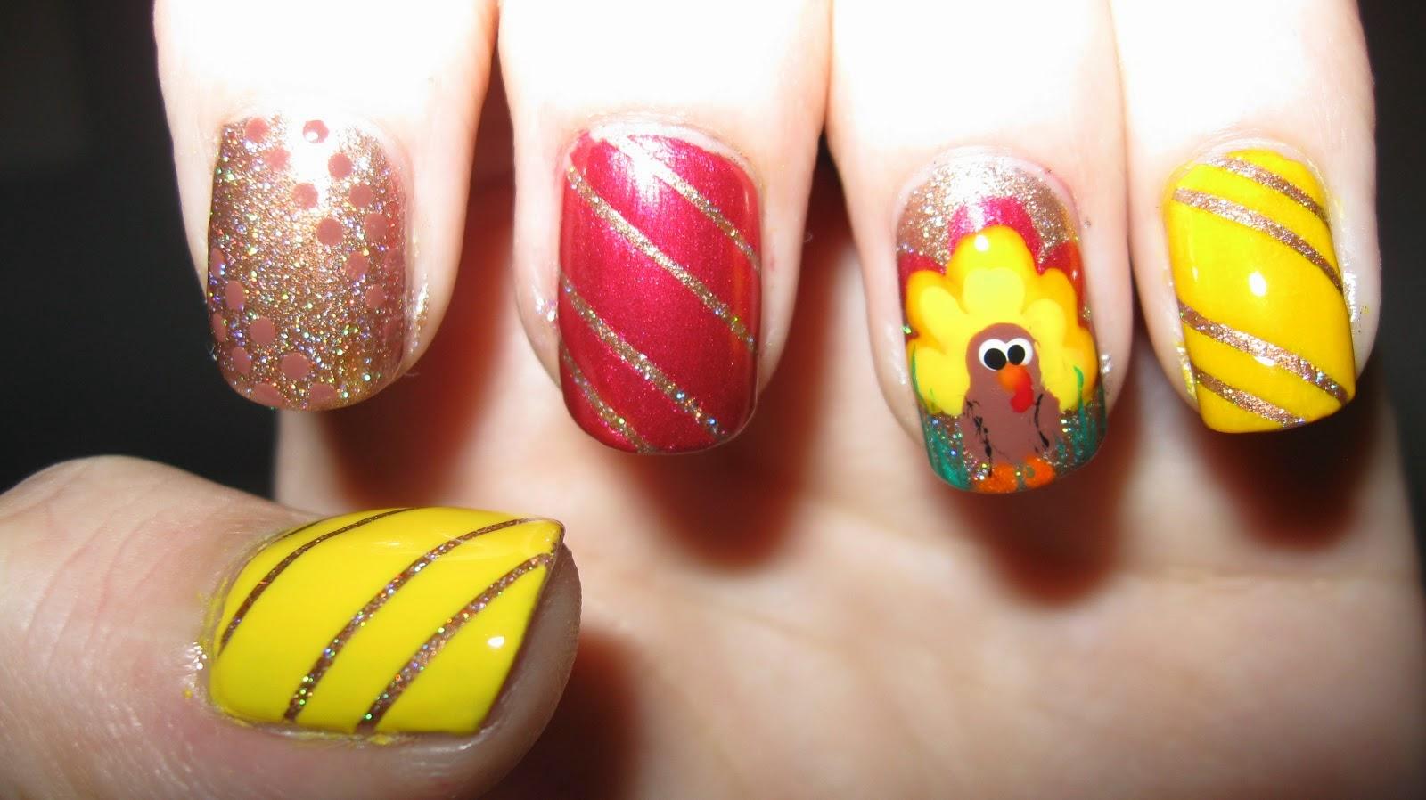 Nail Art Design For Thanksgiving
