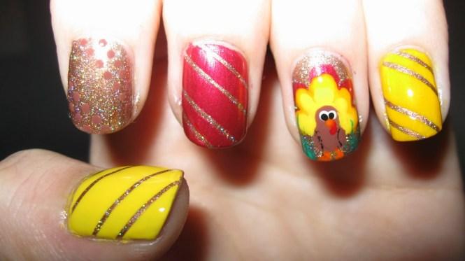 12 Easy Cute Thanksgiving Nail Art Designs Ideas