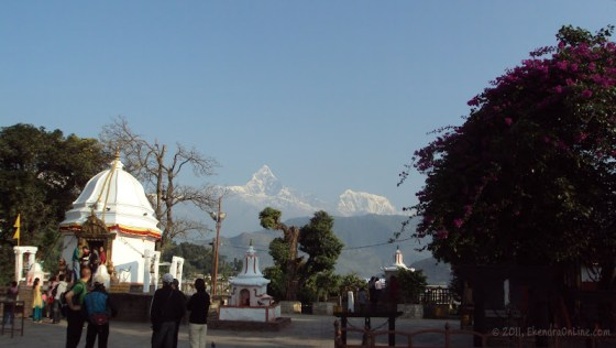 Bindabasini temple and Fishtail as seen from there