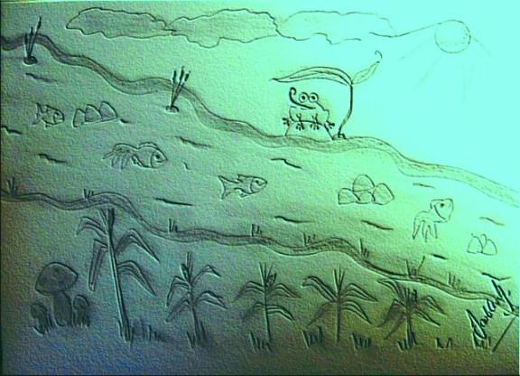 Dibujo del río
