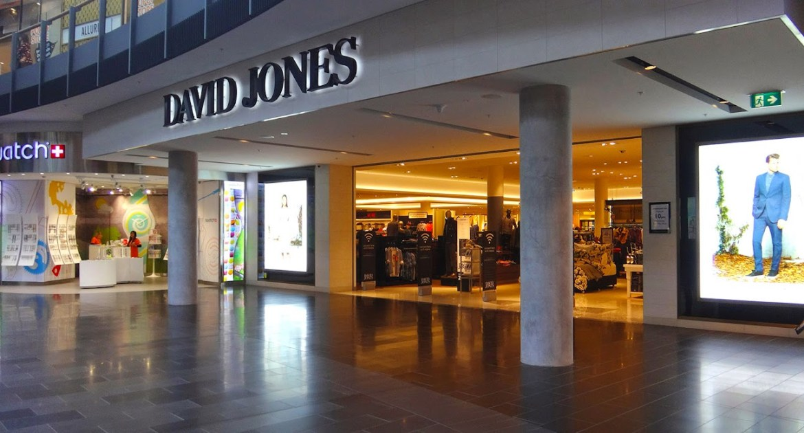 Вход в David Jones на втором уровне в Highpoint Shopping centre