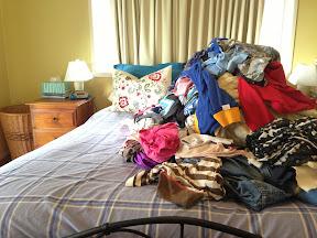 My bedroom is a scene from Hoarders