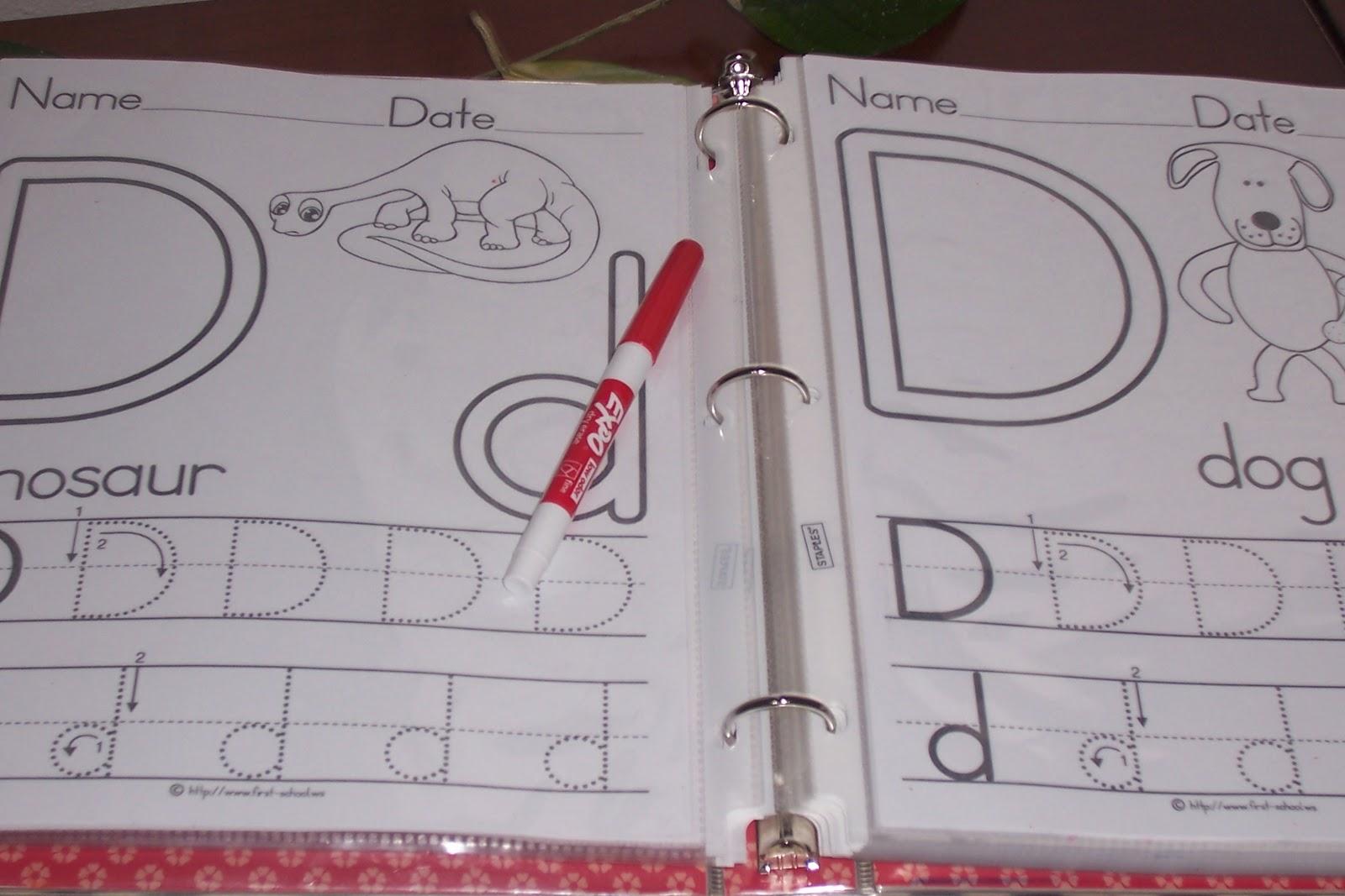 Diy Write And Wipe Preschool Worksheets She Chelsea