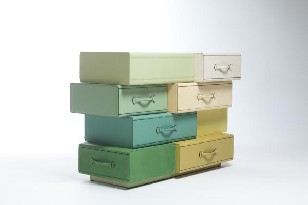 *皮革手提行李箱組合櫃:設計師Maarten de ceulaer探索世界旅行熱情! 5