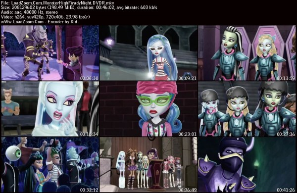 Free Download Monster High: Friday Night Frights (2013 ...