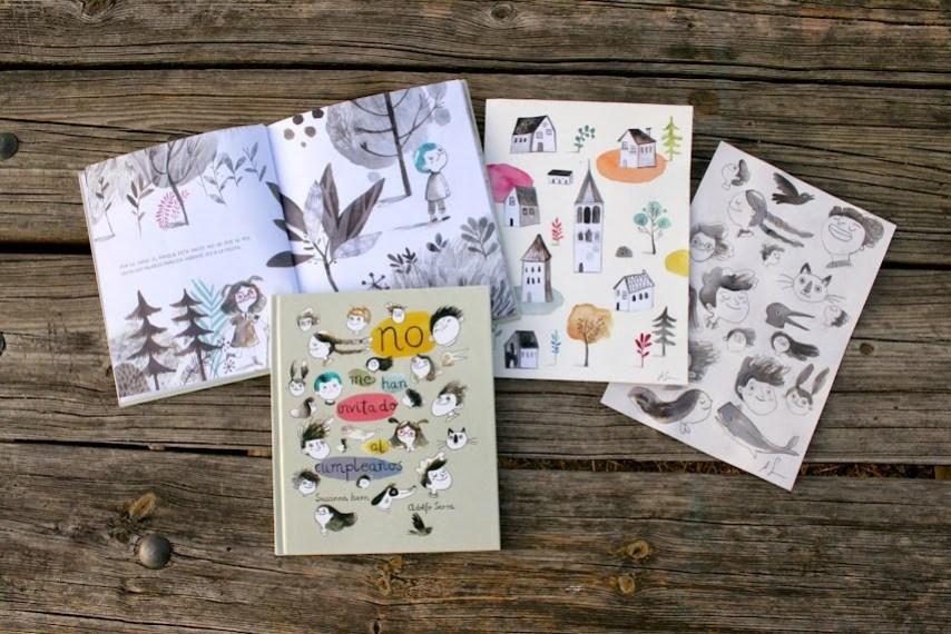 álbum-ilustrado-libro-infantil-no-me-han-invitado-al-cumpleaños-valores-nubeocho