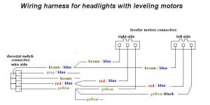 VWVortex  LF b4 headlight adjuster wiring diagram