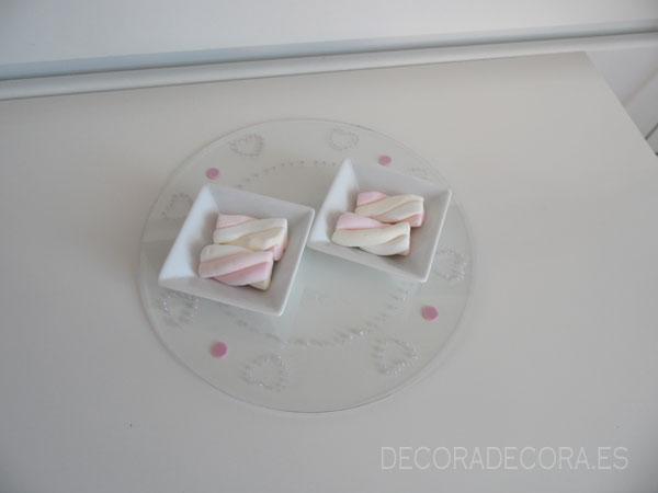 Idea fácil para decorar la mesa el 14 de febrero