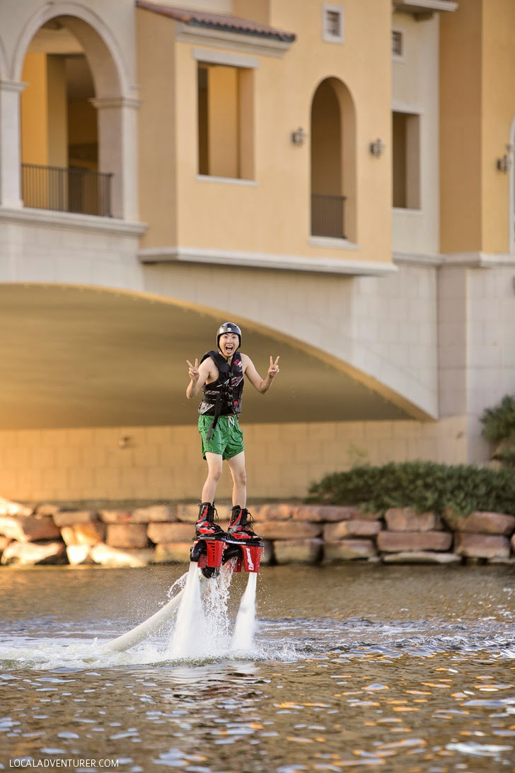 Flyboard Jet ski at the Lake by Las Vegas.